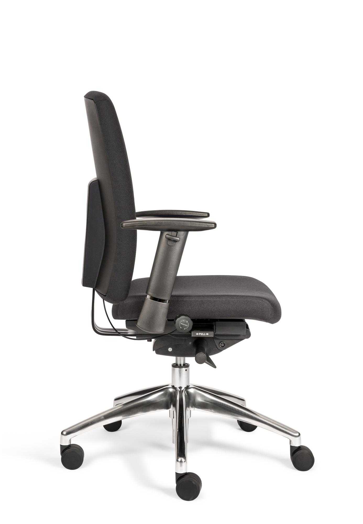 Bureaustoel Egner Pro S zwart gestoff. NEN-EN1335