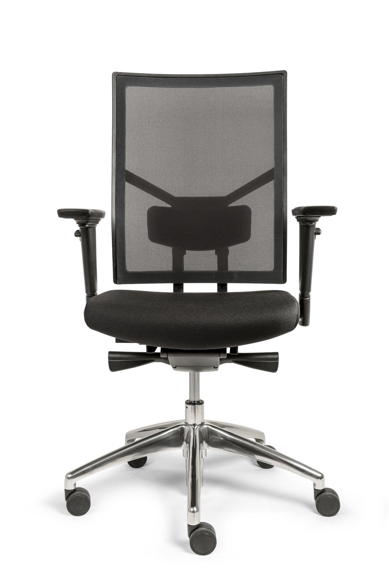 Bureaustoel Egner Excellent Netweave zwart/4D